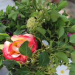 Blumen-Deko auf La Dorgonne
