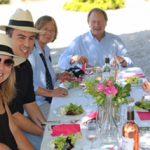 La Dorgonne Besucher beim Mittagessen