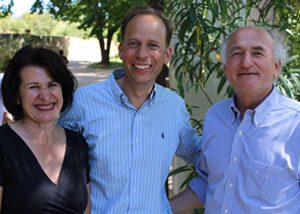 Susanne mit Baudouin und Nicolas Parmentier