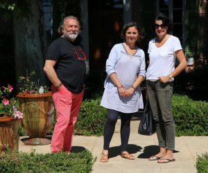 Familie Perret und Susanne Hornikel