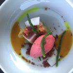 Thunfisch mit Tomaten-Sorbet
