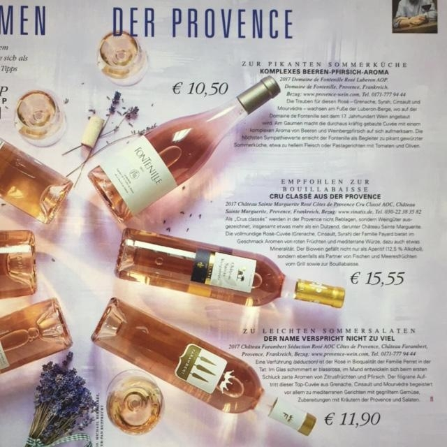Rosé-Empfehlung von der Zeitschrift Feinschmecker