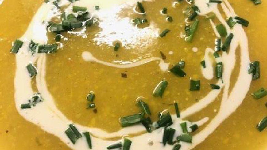 Crème de courgettes jaunes