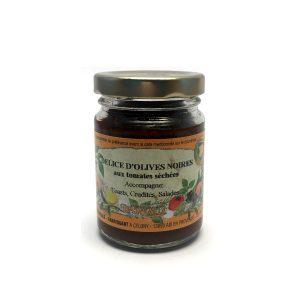 Tapenades d'Olives noires aux tomates séchées